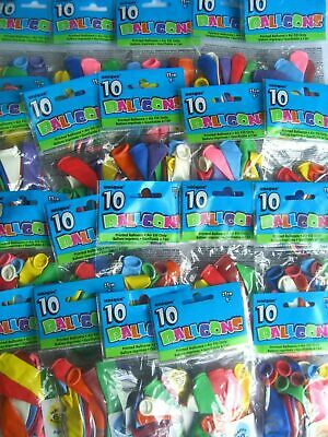 Pack of 10 (Airfill) BALLOONS - Large Range - Ages 1-100 (Party Decorations)