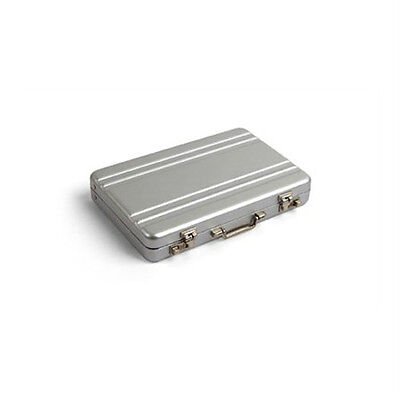 Kikkerland Mini Briefcase Business Card Carrier Aluminum (OR18-A)