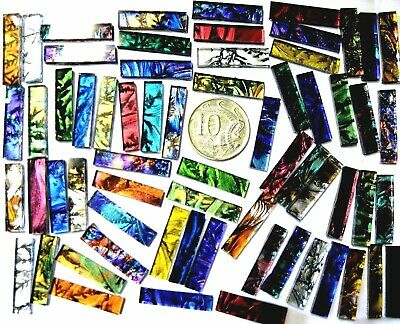 50 Mixed Van Gogh mosaic TILES 25mm x 6mm stunning colors