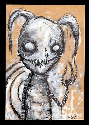 GUS FINK outsider limited lowbrow antique graffiti surreal THE HEART BREAKER