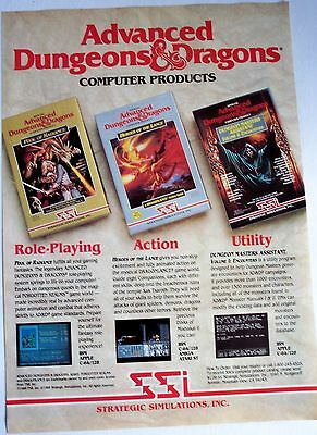 1988 original game AD Advanced Dungeons & Dragons 1980s technology