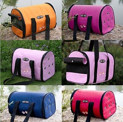 5 Color Portable Folding Canvas Pet Dog Cat Travel Carrier Backpack Tote Bag