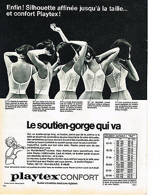 PUBLICITE ADVERTISING 1965 PLAYTEX soutien gorge confort - EUR 3 79a8094817e