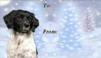 Brittany Dog Christmas Labels by Starprint - No 2 - Auto combined postage