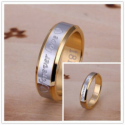 Stainless steel 18K gold plated Fashion Forever love Pretty Lover Ring wedding
