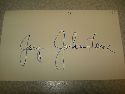 1966 Jay Johnstone Autograph Index card Rare 3X5 Signed Debut Year Auto