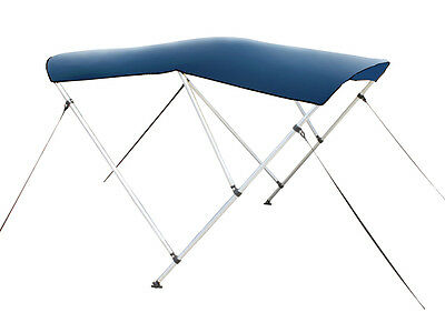 "Navy Blue 3-Bow Frame BIMINI TOP Cover Boat 6'L x 54""H x 79""-84""W 1"" Frame +Boot"