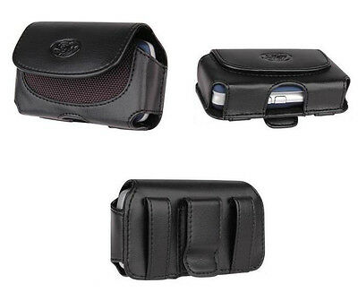 Clip Cover Leather Case Pouch w Belt Loops - See the Compatibility List inside !