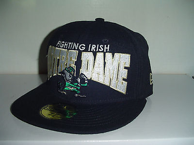 Notre Dame University Fighting Irish  New Era Fitted hat cap sz 7 1/8 100% WOOL