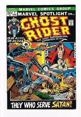 Marvel Spotlight # 7  3rd app. Ghost Rider grade 6.5 - Super Scarce Hot Book !!