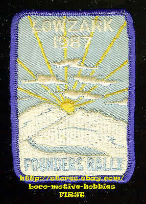 Patch  LONERS ON WHEELS  Single Campers & Travelers LOWZARK 1987 FOUNDERS RALLY
