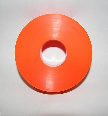 "(1) One - Orange 4"" Dia. X 1"" Wide Urethane Guide Roller / Conveyor Wheel"