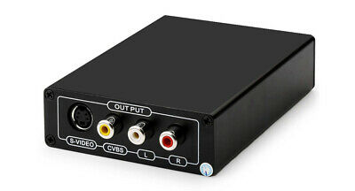 HDMI DVI To Composite S-Video Down Converter With HDMI Audio Decoding