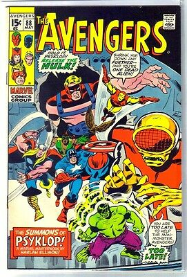 AVENGERS #88 The Summons of Psykop! Marvel Comic Book ~ VF