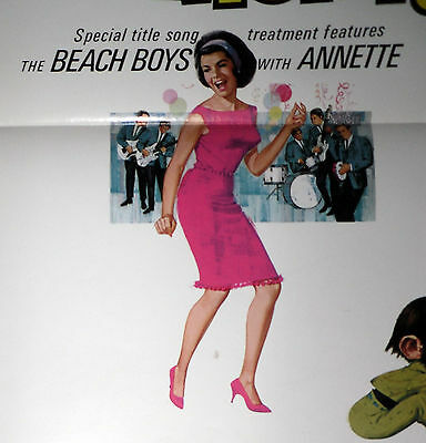 ANNETTE FUNICELLO/THE BEACH BOYS orig 1965 poster THE  MONKEY'S UNCLE one sheet