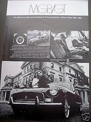 MG MGB GT Sports car vintage 1970 AD