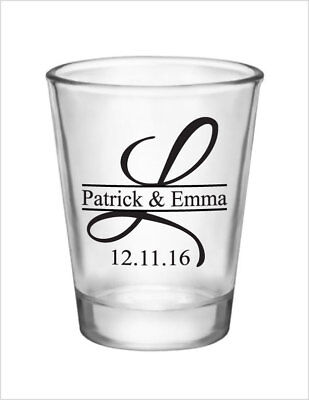 192 Wedding Favors Personalized Glass 1.5oz Wedding Favor Glass Shot Glasses