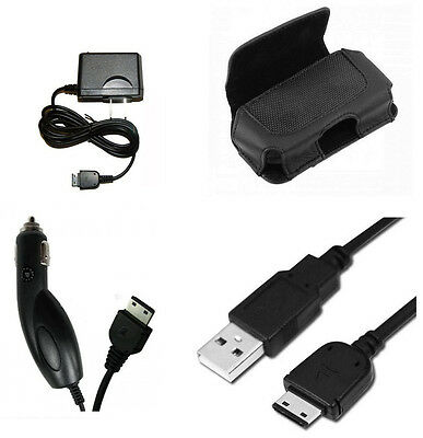 Trasfer Data Sync Link Cable + Travel Home + Car Auto Charger + Case for Samsung