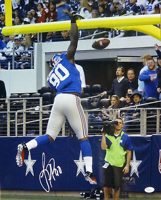 JASON PIERRE-PAUL AUTOGRAPHED/SIGNED NEW YORK GIANTS 16x20 PHOTO (DUNKING)