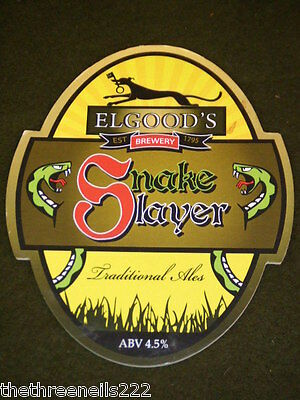 Beer Pump Clip - Elgoods Snake Slayer