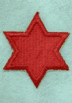 Army Patch: 6th Infantry Division, cut edge