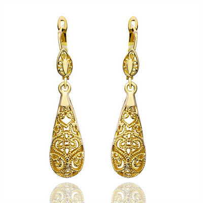 18K Gold Plated fashion Lady gorgeous Retro charms women wedding Earring JEWELRY
