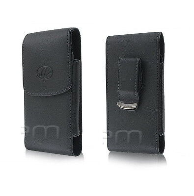 Vertical Leather Carrying Case Clip Cover Pouch Clip Medium Size Phones