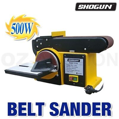 Shogun 500W Disc Belt Sander Power Tool Machine Workshop Grinder Bench Sanding