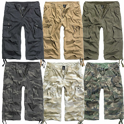 BRANDIT URBAN LEGEND 3/4 Hose S-3XL, Cargo Shorts Trousers Vintage Pants Bermuda