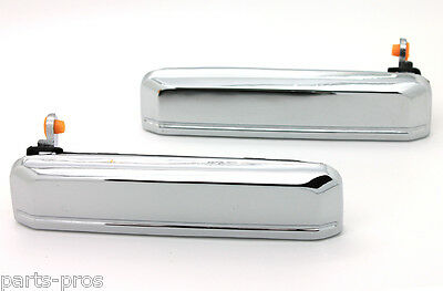 New Chrome Outside Door Handle PAIR / FOR NISSAN D21 PICKUP TRUCK & PATHFINDER