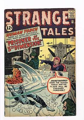 Strange Tales # 103  Human Torch  grade 4.0  scarce book !