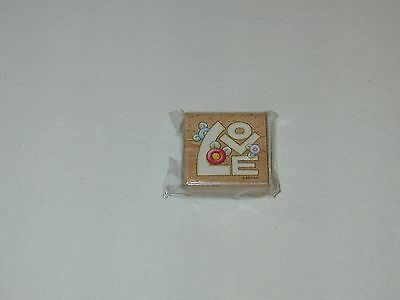 Mary ENGELBREIT '' LOVE'' WOOD RUBBER STAMP-NEW