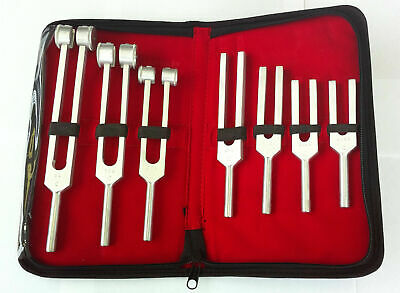 7 Tuning Forks Set Medical Surgical Chiropractic Physical Diagnostic instruments