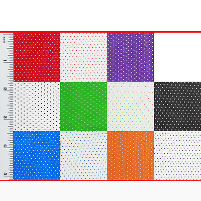 """Pin Spot Polycotton Fabric Spotted Polka Dot Craft Material 115cm / 45"""" Wide"""