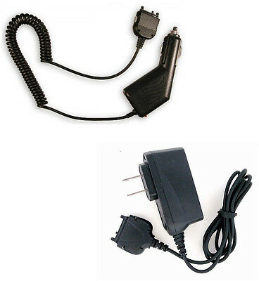 Vehicle 12V Lighter Car Auto Adapter + Wall DC Home Charger for Nextel Phones