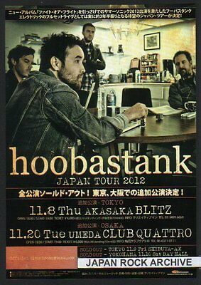 2012 Hoobastank / Lost Prophets JAPAN tour concert flyer / photo / japanese