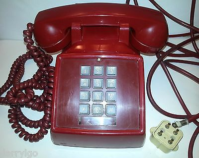 Vintage 1969 Bell System Western Electric 2500/2500D *red* Push Button Telephone
