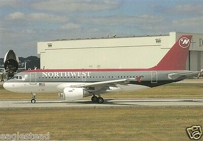 Airline Postcard - Northwest - A319 132 - D-AVYP (P3005)