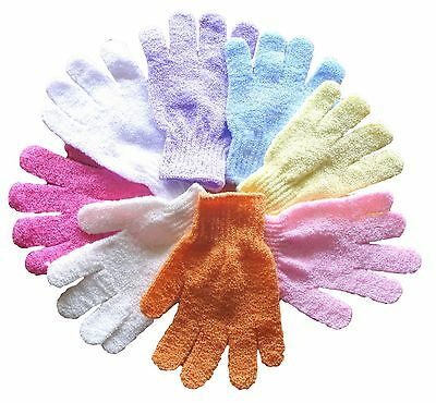 30 x Mixed Colours Body Spa Exfoliating Scrub Glove Mitt WHOLESALE