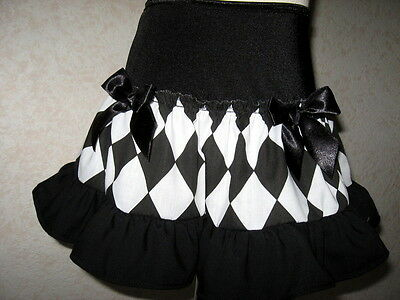 Baby Girl black,white Harlequin check frilly,Punk party,Goth,Punk,rock Skirt