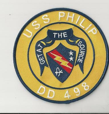 Us Navy Patch - Dd 498 Uss Philip - Get At The Source