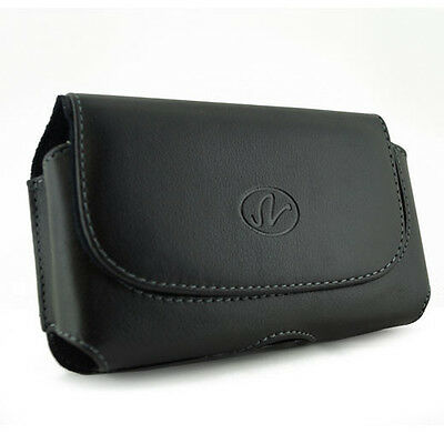 New Premium Leather Case Cover Clip Pouch with Belt Loops for Alltel Phones