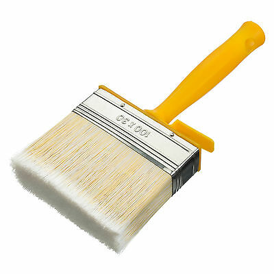 Coral Essentials Block Paint Brush Synthetic Paintbrush Head Sheds Fences 4 inch