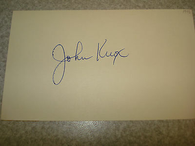 1972 John Knox Autograph Index card Rare 3X5 Signed Debut Year Auto Tigers