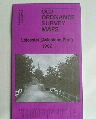 Old Ordnance Survey Map Leicester Aylestone Park Leicestershire 1902 Godfrey Edt