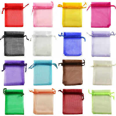 10x15cm / 3.9x5.9 Inch Premium Organza Wedding Favour Gift Bag Jewellery Pouches