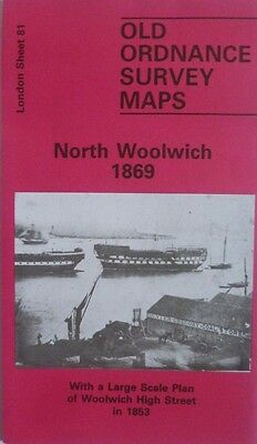 Old Ordnance Survey Maps North Woolwich & Woolwich High St London1869 & 1853