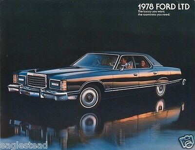 Auto Brochure - Ford - LTD - Car - 1978 - The luxury you want (AB173)
