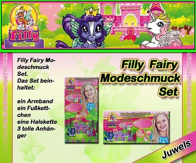 Filly Fairy Modeschmuck Set mit 3 Anhängern Filly Crystal mit Swarowski Element