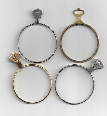 """""""SALE Gold or Brass and Silver optical or trial lenses.. make your own necklaces"""